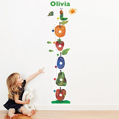 The Very Hungry Caterpillar Personalized Growth Chart Wall Decal for Nursery