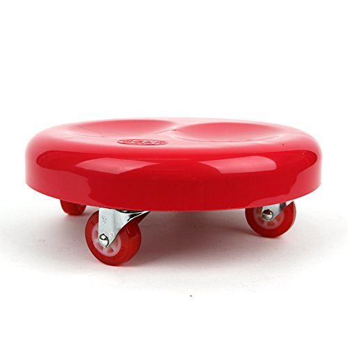 (Whany Multipurpose Low Rolling Stool with Urethane Wheels for Seating, Carrying Luggage, Working on The Ground (No Brake))