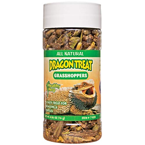 Healthy Herp Dragon Treat - Grasshoppers 0.56-Ounce (15.88 Grams)