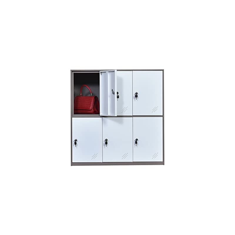 Metal Office and Home Locker Cabinet wit