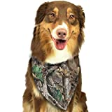 Dog Bandana Real Tree Camo Pet Scarf Triangle Bibs Kerchief Set Pet Costume Accessories Decoration for Small Medium Large Dogs Cats Pets