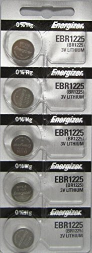 Energizer BR1225 3V Lithium Watch Battery Pack of 5 (Battery Thermometer Vicks)