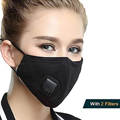 Pollution Mask Cotton - Filter Anti Dust-proof Breathe Face With Washable Exhaust Reusable Smoke Replaceable Car 2 Respirator And Valve For N95