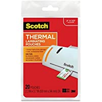 3M 5 Mil Thick Scotch Thermal Pouches Business Card 3.75 x 2.37-Inch, Pack of 20, (TP5851-20)