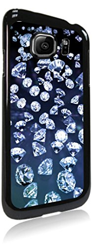 Diamonds Jacks Outlet Hard Black Plastic Case Compatible with the Standard Samsung Galaxy s8 - I900 Crystal