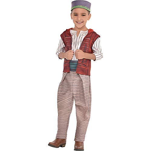 Kids Aladdin Costume (Party City Aladdin Costume for Children, Size Small, Includes a Shirt, Pants, a Hat, a Belt, and an Attached)