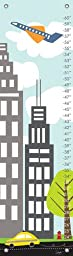 Oopsy Daisy Growth Charts Urban Landscape Stacy Amoo Mensah, Blue, 12 x 42\