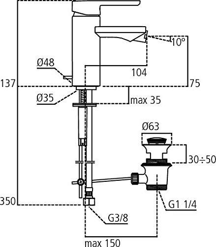 Cromo Ideal Standard A5708AA Miscelatore Monoforo Bidet Neon