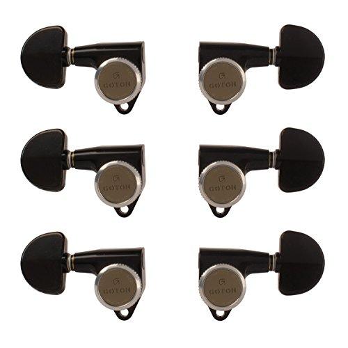 Gotoh Magnum Lock-Trad 3+3 Guitar Tuners, Black ()