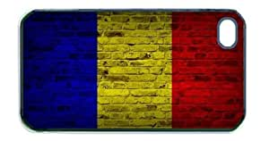 Chad Flag Brick Wall iPhone 5 Black Case - Fits iPhone 5