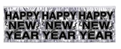Beistle - 88493-S - FR Metallic Happy New Year Fringe Banner- Pack of 12