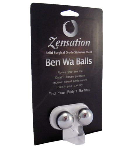1'' Zensation Ben Wa Balls For Kegel Exercises / Surgical Stainless Steel