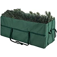 Elf Stor Heavy Duty Canvas Christmas Storage Bag for 9 Foot Tree (Green)