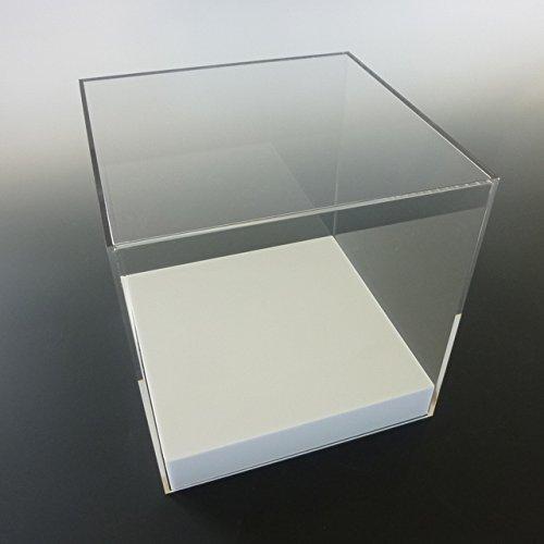 【台座 = かぶせタイプ 白 33mm】 UVカット透明アクリルケース W600mm H500mm D500mm B01EC06J4Y W600mm H500mm D500mm  W600mm H500mm D500mm