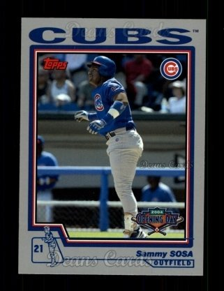 2004 Topps Opening Day # 143 Sammy Sosa Chicago Cubs (Baseball Card) Dean's Cards 8 - NM/MT Cubs