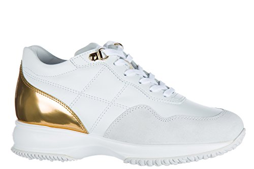 Hogan Leather Sneakers Shoes Women's White Trainers RRr84xq