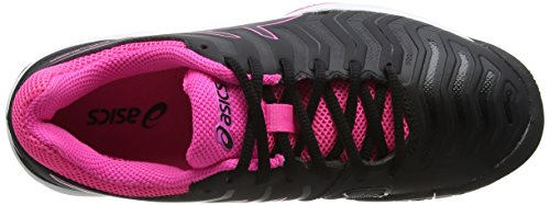 Asics Women's Gel-Challenger 11 Tennis Shoes Black (Black/Black/Hot Pink 9090) 8oHdixX