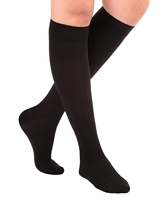 90f12296719 Amazon.com  Tektrum (1 Pair) Knee High Firm Graduated Compression Socks  Stockings 23-32mmHg for Men Women - for Nurses
