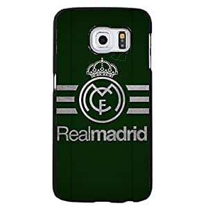 Particular Porcelain Real Madrid CF Logo Phone Accessories for Samsung Galaxy S6 Edge Plus Football Teamlogo Image Phone Case