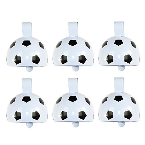Football Noisemaker (Metal Cowbell Noisemakers - Sports School Cowbells Set 6 Pack - Play Kreative TM)
