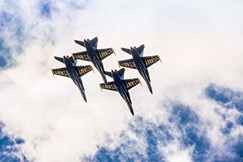 Home Comforts Acrylic Face Mounted Prints Hornet F-18 Fly Airplane Navy Blue Angels Jet Print 14 x 11. Worry Free Wall Installation - Shadow Mount is Included.