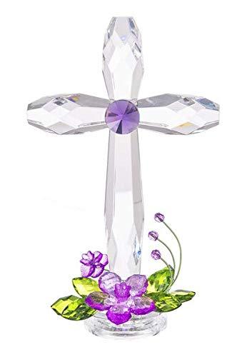 Ganz Standing Floral Cross