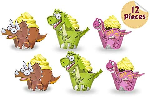Land of Wood Dinosaurio Cupcake Wrappers Toppers Artículos ...