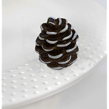 Nora Fleming - Brown & White Pinecone - Interchangeable Mini Plate Charm A110