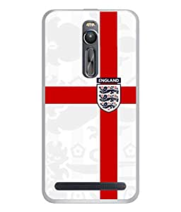 ColorKing Football England 18 White shell case cover for Asus Zenfone 2