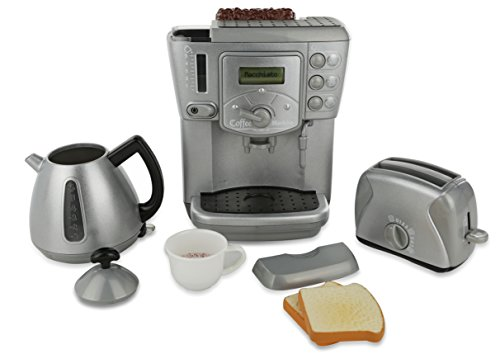 Play kitchen Appliances - Toy Kitchen Breakfast Tea Set | Deluxe Play kitchenet Set - Interactive Electronic Kids Pretend Kitchen Appliance 3 Piece Set with Realistic Sound Effects