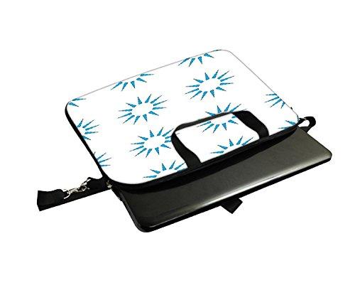 Snoogg blau Sun 30,5cm 30,7cm 31,8cm Zoll Laptop Notebook Computer Schultertasche Messenger-Tasche Griff Tasche mit weichem Tragegriff abnehmbarer Schultergurt für Laptop Tablet PC Ultrabook Chrome