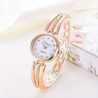 Relógio Feminino Luxo Dourado Analógico Pulso Cor Ouro
