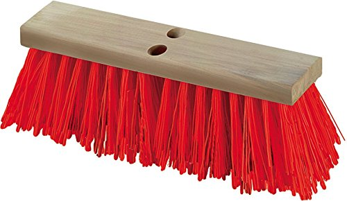 Carlisle 36111624 Flo-Pac Heavy Polypropylene Sweep, Crimped Bristles, 5-1/8'' Bristle Trim, 16'' Length, Orange (Pack of 12)