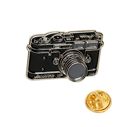 SKZKK Retro Camera Enamel Lapel Pin Fashion Painted Pins for Jackets Broaches and Pins for Women Handmade Painted Coating,B