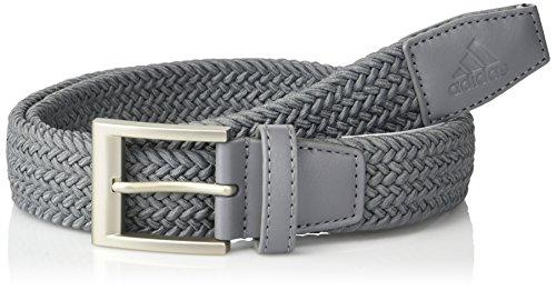 (adidas Golf Braided Weave Stretch Belt, Grey Three, Large/X-Large)