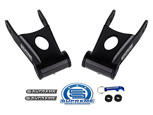Supreme Suspensions - 2 Inch Rear Lowering Kit for 2009-2019 Ford F-150 [2WD 4WD] Steel Shackles Pair Drop Kit PRO ()