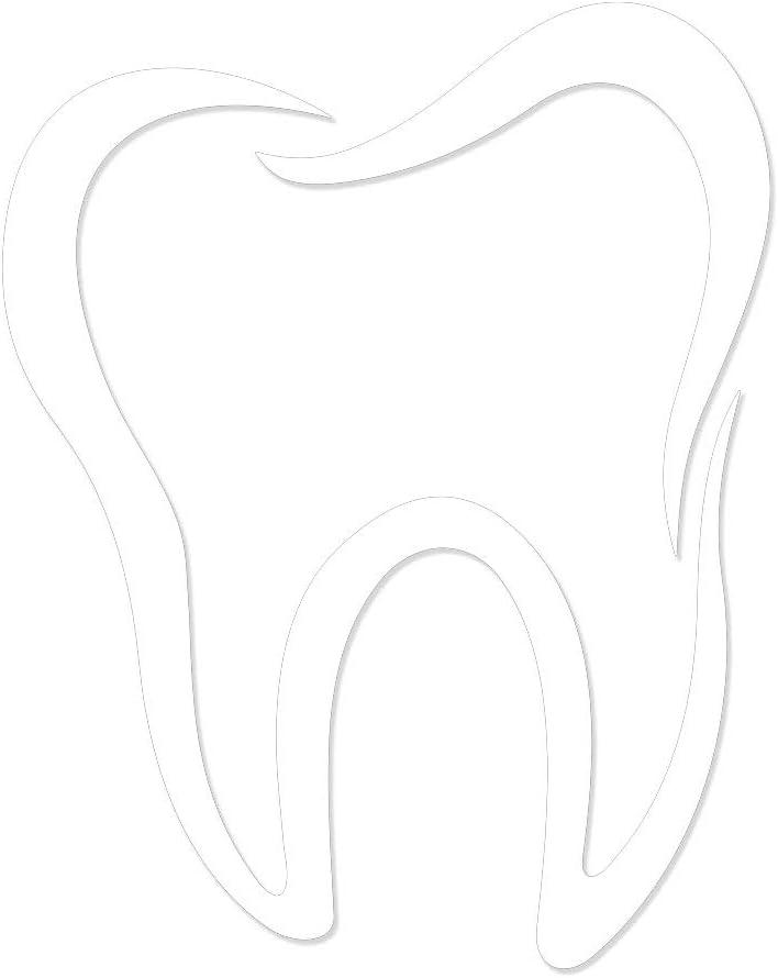 "Molar Tooth Vinyl Car Decal - 5"" White"