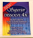 Superior Threads Dissolve 4X Heavy-Duty Water Soluble Stabilizer 47'' x 1 yd (4X-47-001)