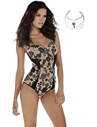 Bodysuit Strapless Molded Cups Underwire Light Contouring Mild Shaping