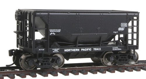 Pacific Ore Car - HO Scale 24' Minnesota Ore Car 6-Pack - Ready To Run -- Northern Pacific #78306, 78333, 78378, 78385, 78392, 78411 (black)