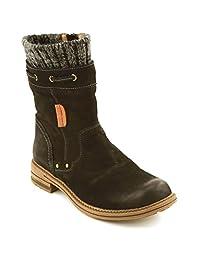 COMFORTIYA Women's Dianne Leather Casual Low-Heel Mid-Top Winter Snow Boot