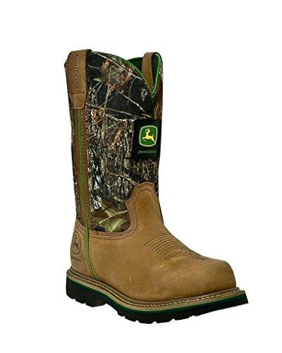 John Deere Men's 11 Inch Mossy Oak Camo Boot,Brown,12 M US