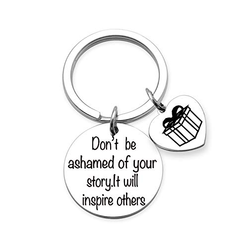 EIGSO Don't Be Ashamed of Your Story.It Will Inspire Others Sobriety Gift Recovery AA Alcoholics Anonymous Birthday Gift Keychain New Beginnings Gift