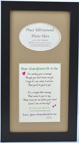 "Cheap All Things For Mom ""Grandparents to Be"" Ultrasound Picture Frame with Burlap Mat (7""x14"")"