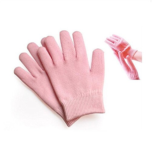 Gel Spa Gloves Pinkiou Soften Skin Moisturizing Treatment Hand Mask Care Gloves best gift for her (gloves, pink)