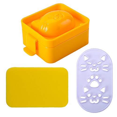 ❤️Jonerytime❤️Cat Model DIY Rice Dough Sushi Mold DIY Mould Creative Funny Party Decor Yellow]()