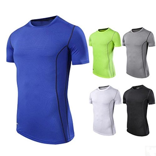 top camisetas corto entrenamiento para rápida deportivo camisetas de hombres profesional OverDose Azul secos wHvxqO11