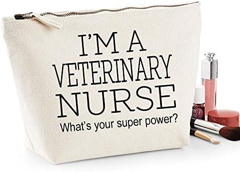 Veterinaria Enfermera Regalo Mujer Grande Maquillaje Accesorio Bolsa Maquillaje Estuche Natural: Amazon.es: Belleza