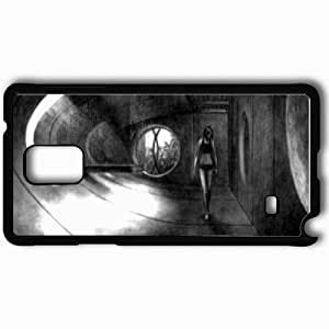 Personalized Samsung Note 4 Cell phone Case/Cover Skin Aeon Flux Black