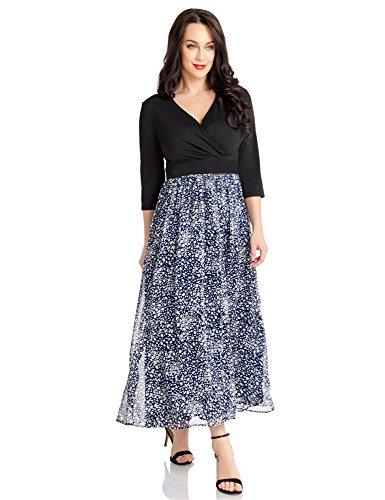 Cheap LookbookStore Women's A Line Leopard Print High Waist Casual Surplice Long Dress for sale